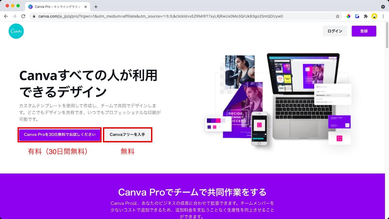 canva 公式サイト